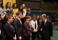 UN Interns meet Secretary general Ban Ki-Moon