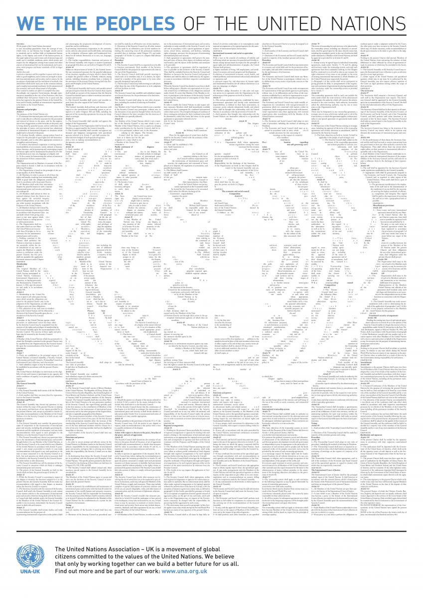 the united nations charter The un charter is the constitutive instrument of the united nations, signed on 26 june 1945 it sets out the rights and obligations of member states and establishes the principal organs and procedures of the united nations.