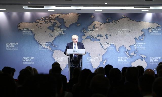 Boris Johns at Chatham House