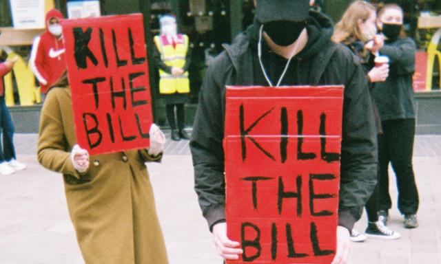 Kill the Bill protest in Leicester
