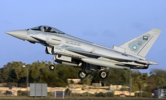 Typhoon jet manufactured by BAE Systems and operated by the Royal Saudi Air Force (Creative Commons)