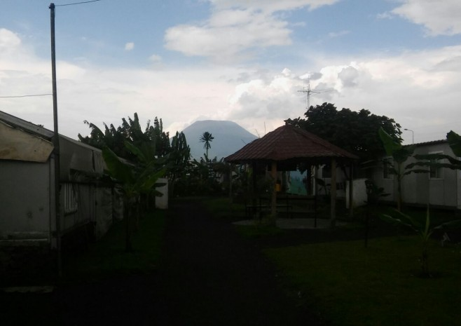 View of Goma and volcano Nyiragongo