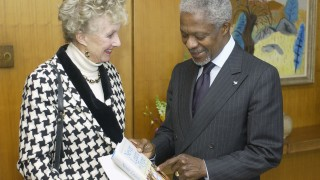 Secretary-General meets with Dame Margaret Anstee